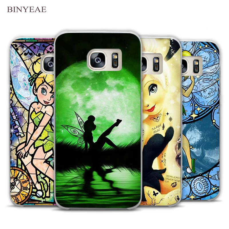 BINYEAE Tinkerbell Clear Phone Case Cover for Samsung Galaxy Note 2 3 4 5 7 S3 S4 S5 Mini S6 S7 S8 Edge Plus