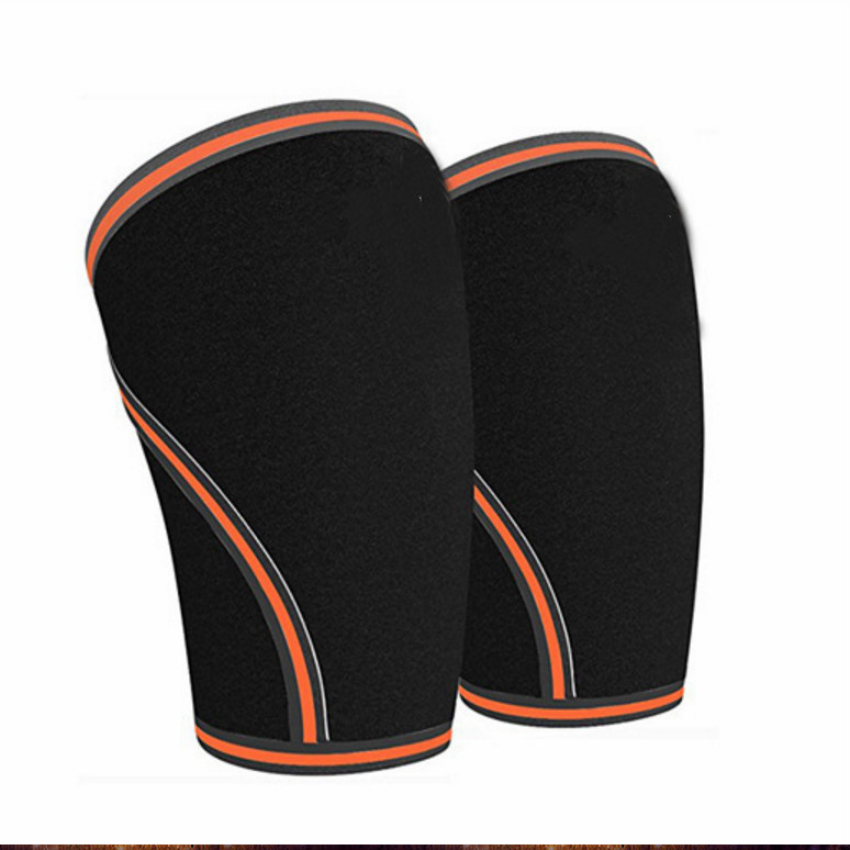 Athletics and Weightlifting Non Sliding Compression Knee 1 Pair for great support and effective relief of muscle pain in Elbow Knee Pads from Sports Entertainment