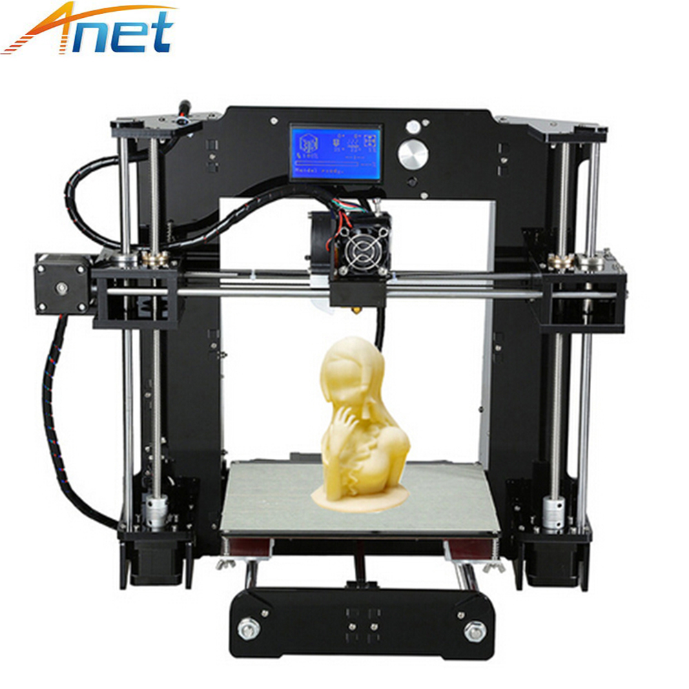 Anet A6 A8 3D Printer Kit High Precision Easy Assemble Reprap Prusa i3 DIY 3D Printing Machine 2017 high quality anet a6 a8 normal