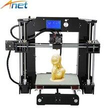 Anet A6 A8 Kit de Impresora 3D de Alta Precisión Fácil de Montar Reprap Prusa i3 DIY 3D Printing Machine
