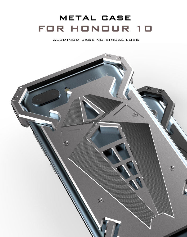 Luxury Aluminum Metal Case For Huawei Nova 3 Cover Powerful Armor Shockproof Bumper Case Metal Frame Cover For Huawei Nova 4