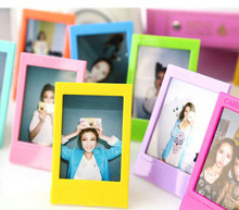 10pcs/lot rainbow colorful photo frames mini picture frames foto 3inch FUJI INTAX wedding decoration fashion home decor ADD(China)