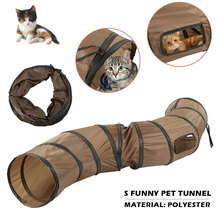 SFunny Pet Tunnel Cat Play Brown Foldable 1 Holes Kitten Toy Bulk Toys Rabbit