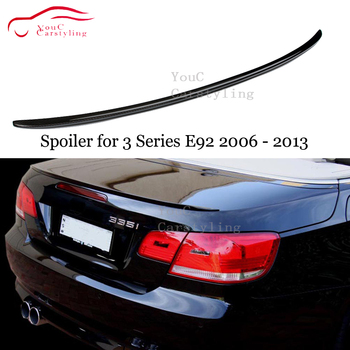 Carbon Fiber Rear Spoiler Wing for BMW 3 Series E92 2-door Coupe 2006 - 2013 M3 M4 Performance Style Trunk Boot Lip 320i 325i image