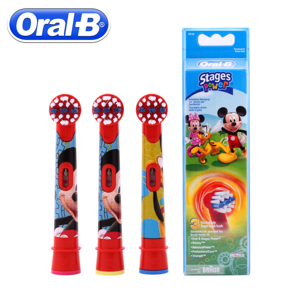 3pc/Pack Oral B Children Electric Toothbrush Heads Replacement Rotation Brush Heads Oral Hygiene Brush Head 2pc pack oral b children electric toothbrush heads eb10 soft bristle replacement electric brush heads oral hygiene brush head