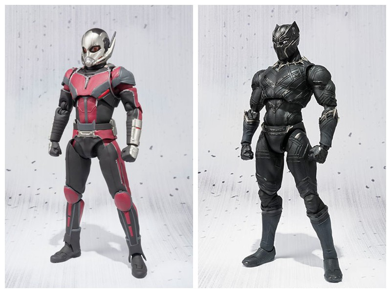 Captain America Civil War Ant Man Black Panther PVC Action Figure Model Toy 16cm anime captain america civil war original bandai tamashii nations shf s h figuarts action figure ant man