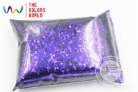 TCR403 Iridescent Peacock Purple With Blue Luster Color Stars Shape 2 0MM Size Glitter For Nail