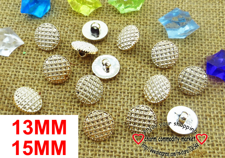 50PCS 15MM/13MM Champagne Carving RESIN buttons coat boots sewing clothes accessories R-116