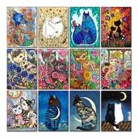 Diamant Stickerei Cartoon katze 5D Diy Diamant Malerei kreuz stich Tiere Volle quadratmeter Diamant Mosaik bild Hause Dekoration