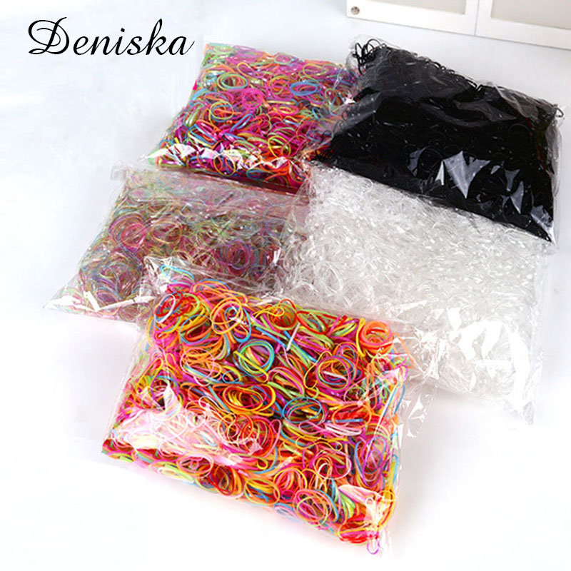 About 2000pcs/pack 2CM TPU Band Wholesale 2017 Hair Accessories for Women Children Rubber Elastics Hair Bands Girls Tie Gum Hol