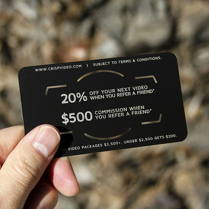 High grade business card metal noble electric yong black matte card high grade business card metal noble electric yong black matte card hollow creative personality vip membership vip production in business cards from office colourmoves