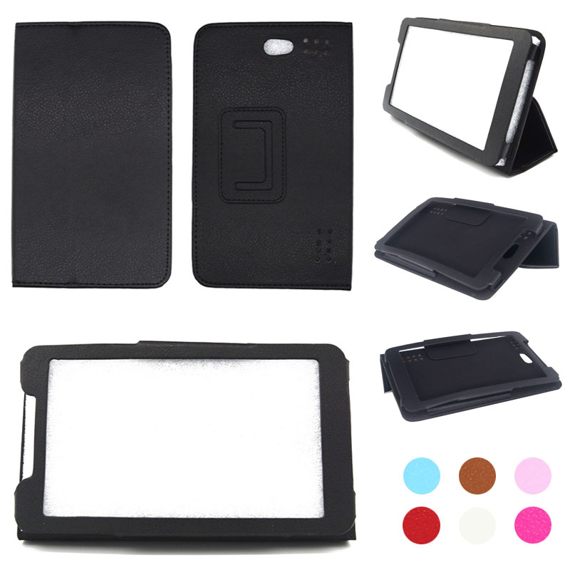For Ginzzu GT-7110 7 inch Tablet PU Leather Folding Folio Case Stand Cover+Stylus Pen +Screen Protector Film Free Shipping(China)