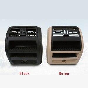 Image 3 - LHD RHD الخلفي التيار المتناوب مكيف الهواء تنفيس مصبغة الإطار الخارجي لوحة الداخلية ABS لوحة لسيارات BMW 5 سلسلة F10 F18 520 525 الأسود الراقية