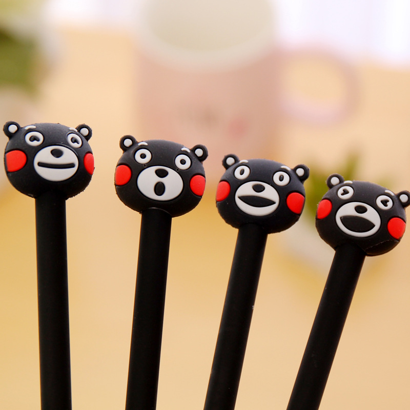 1PCs New Creative Cute Cartoon Kumamon Bear Gel Pen Ink Marker Pen School Office Supply Gift E0371 наборы декоративной косметики wet n wild набор с подарком wnw 78