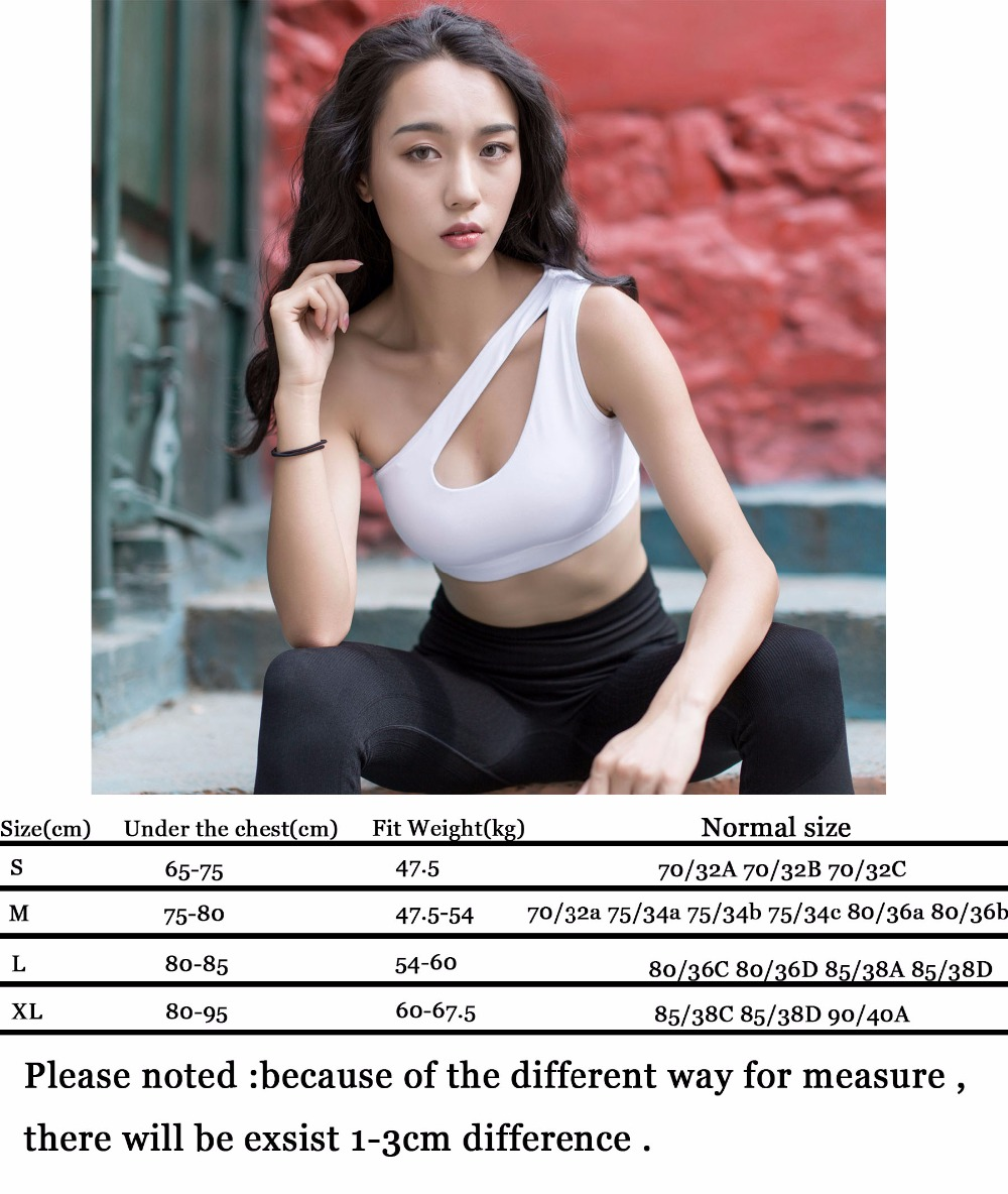 404e22df1a141 Zhangyunuo Women Sports Bra Fitness High Impact Personality Sports Top Oblique  Shoulder Women Sport Gym Bra Top Workout Bra -in Sports Bras from Sports ...