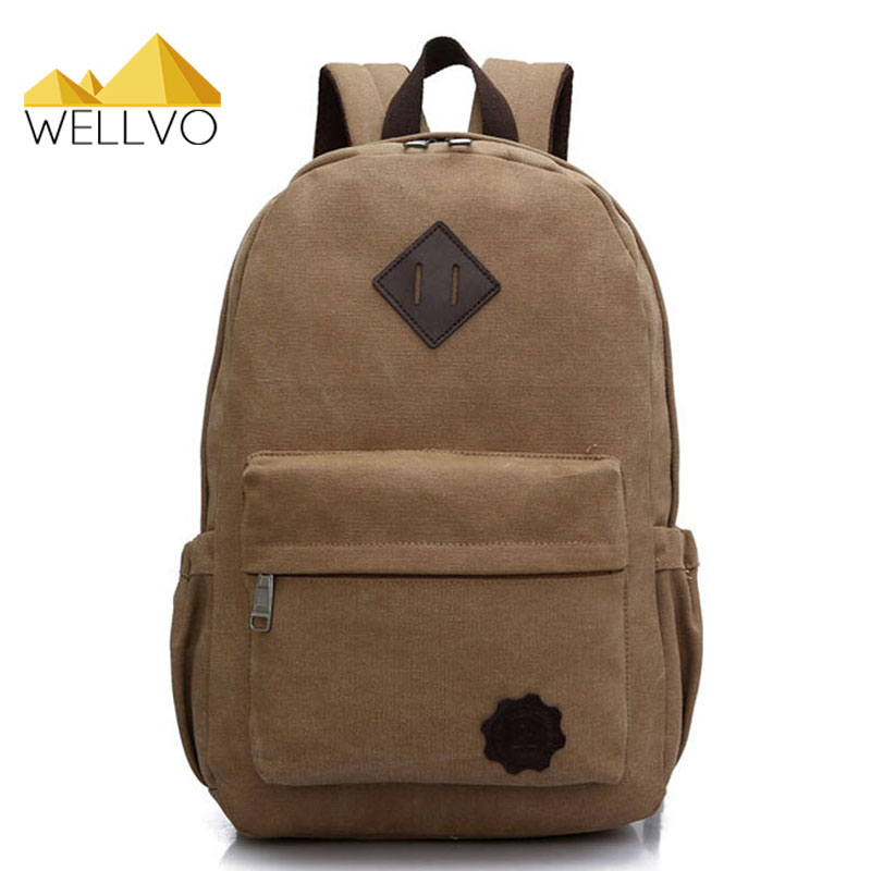 Canvas Laptop Backpack Men Teenage Boys Backpacks Large School Bag Vintage Students Travel Rucksack Shoulder Bags Black XA1054C oxford bag korean version of the female students shoulder bag large capacity backpack canvas backpacks