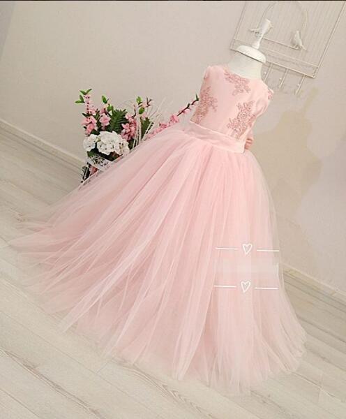 Pink Dress for Children Flower Girls Dress Party Wedding Dress Elegent Princess Vestidos music note party swing dress