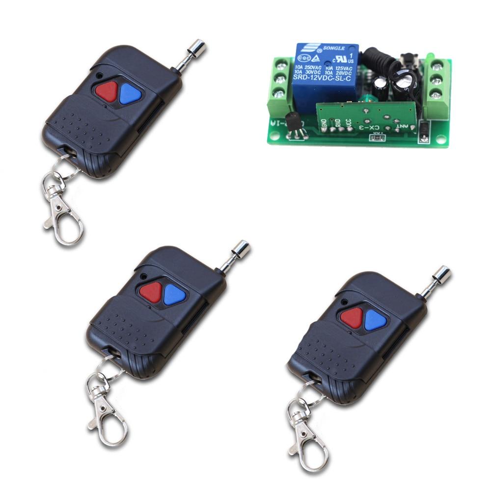 2Keys Universal Remote Control Learning Code Receiver with Wireless Remote Control 24V 9V 12V 1CH Radio Relay 315MHz the black keys the black keys el camino 2 lp