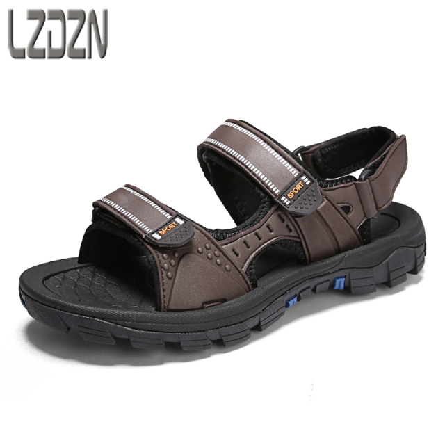 c2fc72cf2 Outdoor leisure beach sandals men anti-skid summer old people old men s  shoes middle-aged male Sneakers Men Slippers Flip Flops