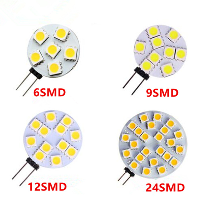 <font><b>G4</b></font> Led Lamp 1W/2W/<font><b>3W</b></font>/4W DC12V 5050SMD 6/9/12/24 Leds chandelier Light Free Shipping image