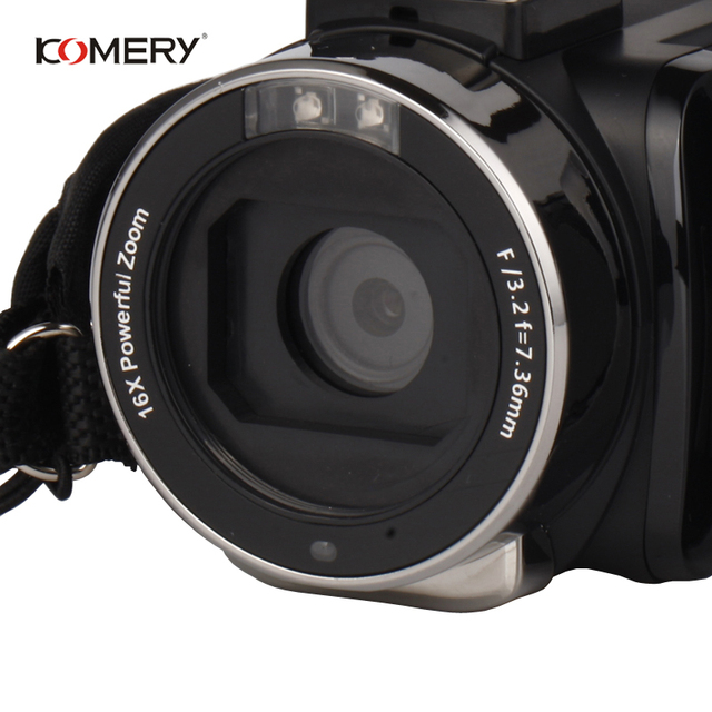 Genuine KOMERY 4K Video Camera Wifi Night Vision 3.0 Inch HD Touch Screen Time-lapse Photography Camcorders Three-year warranty 2
