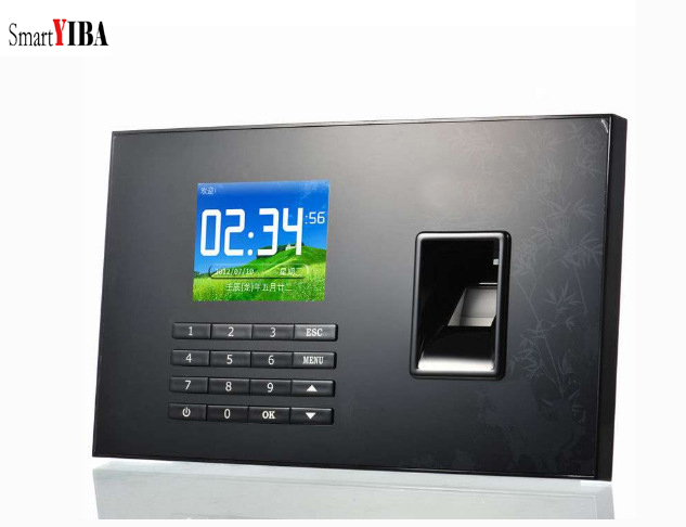 SmartYIBA 2.8 Inch TCP/IP Biometric Fingerprint Attendance Time Clock USB Recorder Employee Checking-in Recorder Machine