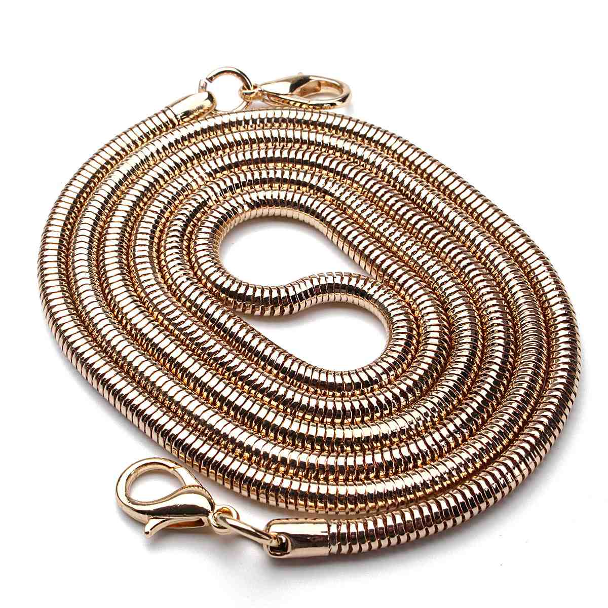 110CM Replacement Bag Straps DIY Chain Strap Handle Shoulder Belts Stainless Steel Copper Bag Metal Bands Bag Parts Accessories