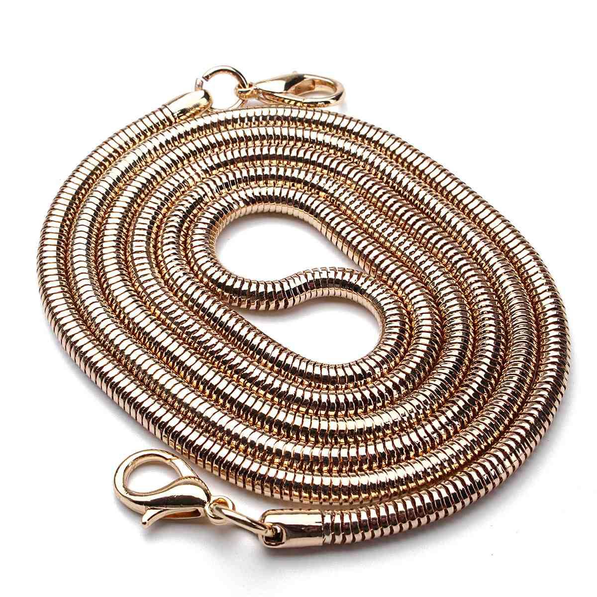 110CM Replacement Bag Straps DIY Chain Strap Handle Shoulder Belts Stainless Steel Copper Bag Metal Bands Bag Parts Accessories