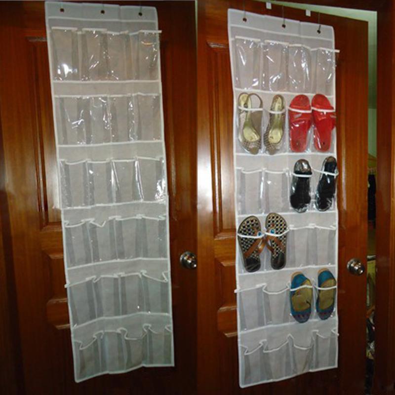 24 Bolsillo de la puerta que cuelga el sostenedor del organizador del - Organización y almacenamiento en la casa