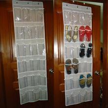 24 Pocket Door Hanging Holder Shoe Organiser Storage Rack Tidy Storage Box Hanging Bags Wall Bag Room Shoes Slippers Storage