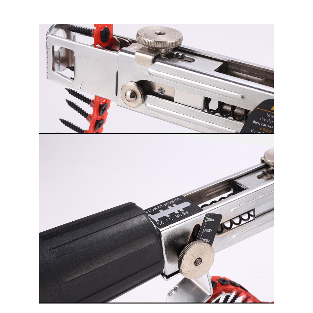 Image 4 - Automatic Electric Drill Nozzle Adapter Nail Exit Bracket and Chain Nails Kit Household Tools Set Chain Nail Machine Accessories-in Nail Guns from Tools on