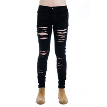 New Fashion Hip Hop Skinny Denim Pants Slim Fit Male Brand Vintage Men Designer Casual Hole Ripped Jeans Mens Black White hot sell ripped men denim jeans printed skinny pants for man brand designer clothing 100% cotton luxury casual trousers male