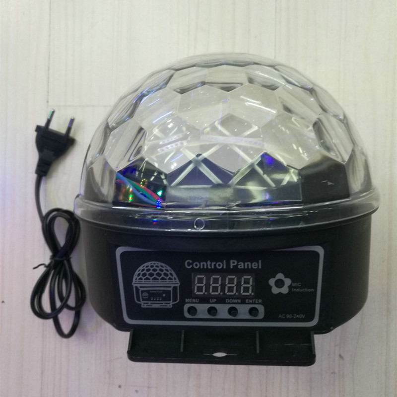 Led Stage Lamp Crystal Magic Ball 7 Sound Control Modes 9 Colors Stage Lighting Disco Laser Light Party Lights Lumiere Laser