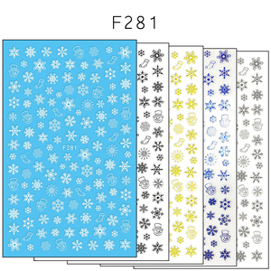 Image 3 - 1 szt. 3D naklejka do paznokci motyw świąteczny wzór mieszany jeleń/płatek śniegu porady dotyczące paznokci DIY naklejka dekoracyjna naklejka LAF281 284