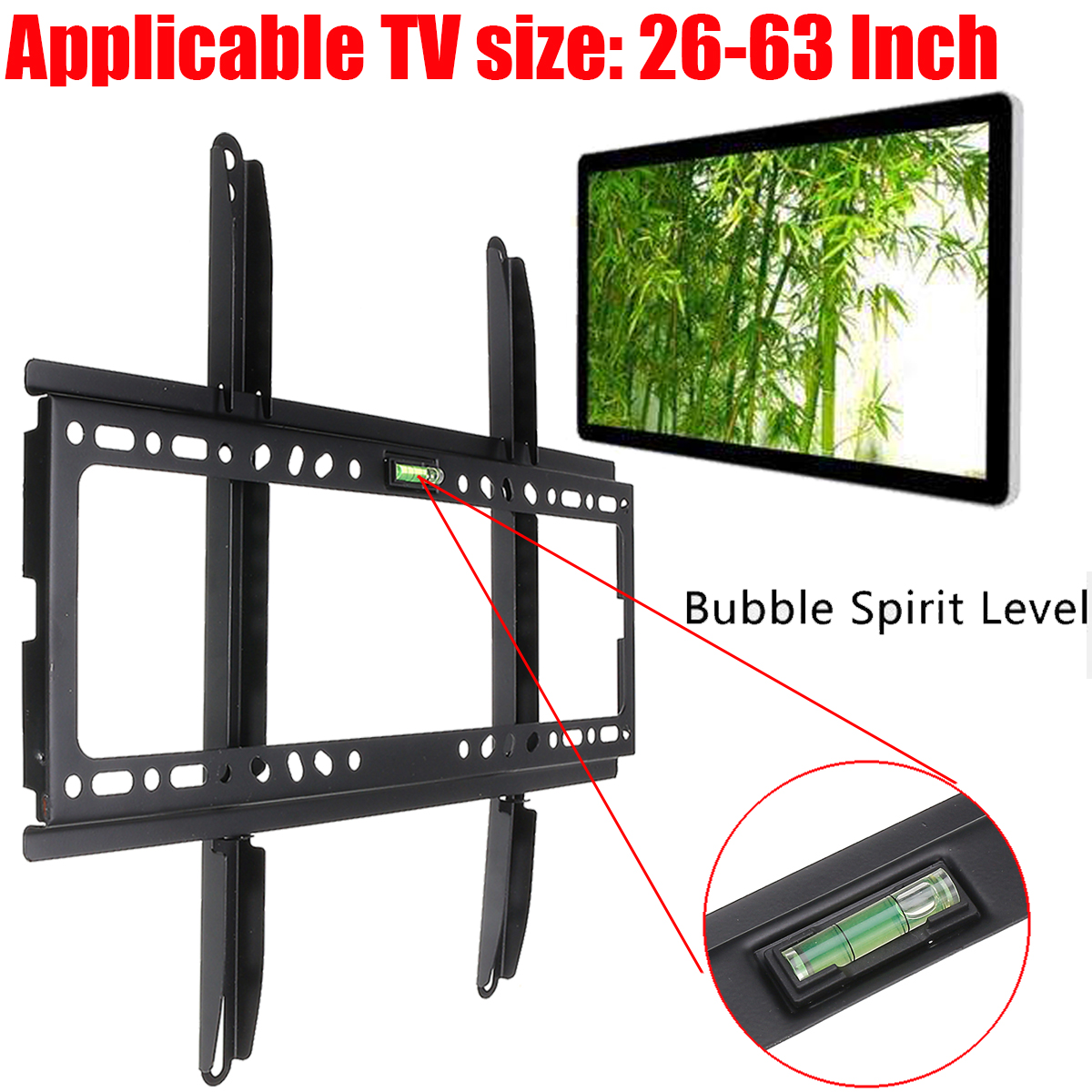 Powerful Metal LCD LED Plasma Slimline Flat TV Wall Mount Bracket 26 32 40 42 46 50 52 55 60 63 TV Mounts TV Stand Holder