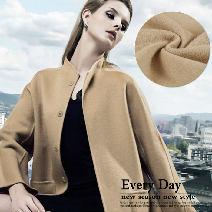ᗛChaud beige cheveux cachemire laine tissus tissus de laine automne ... acb33f2f4ac