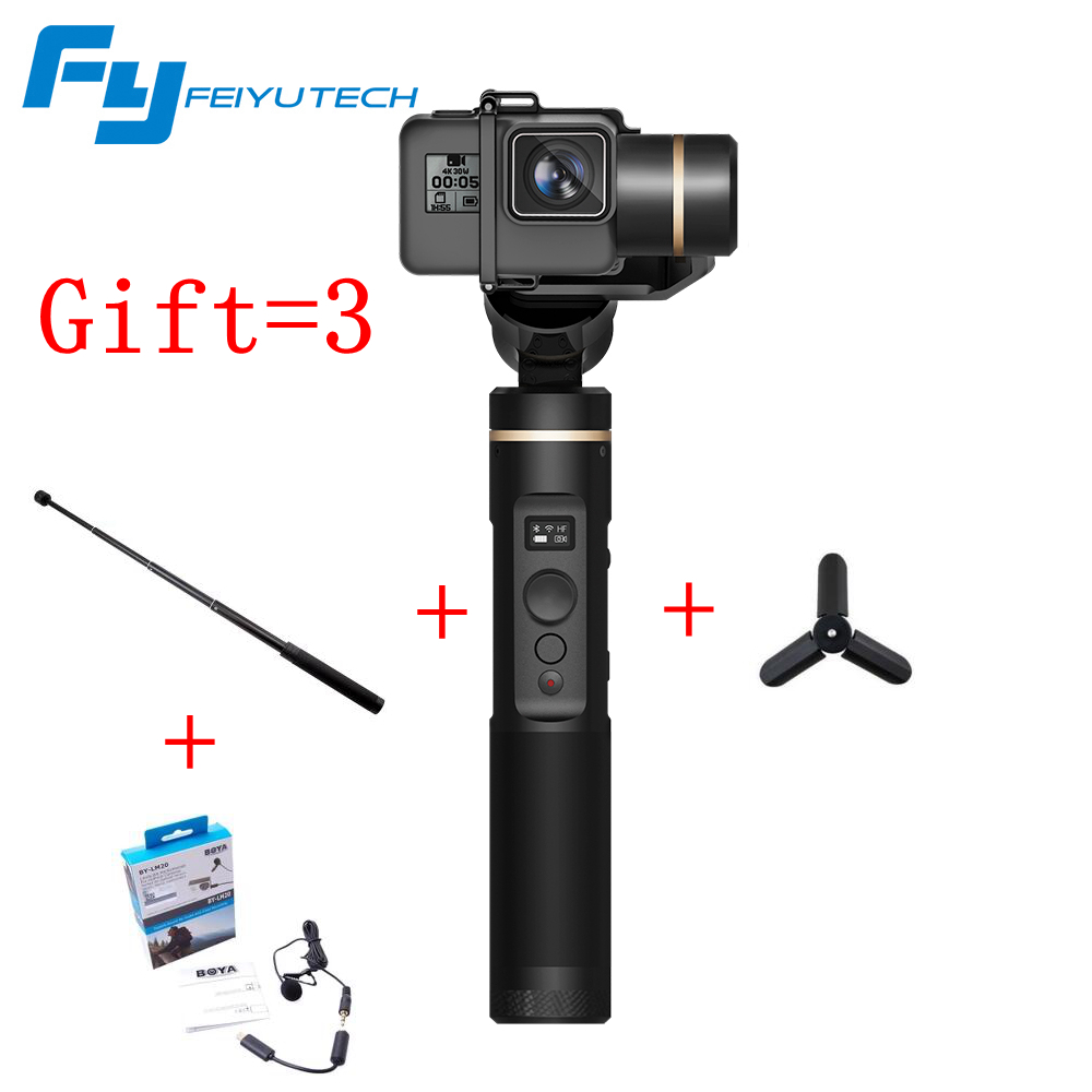 FeiyuTech G6 3 Axis Gimbal Feiyu Action Camera Wifi BlueTooth OLED Screen Angle for Hero 6