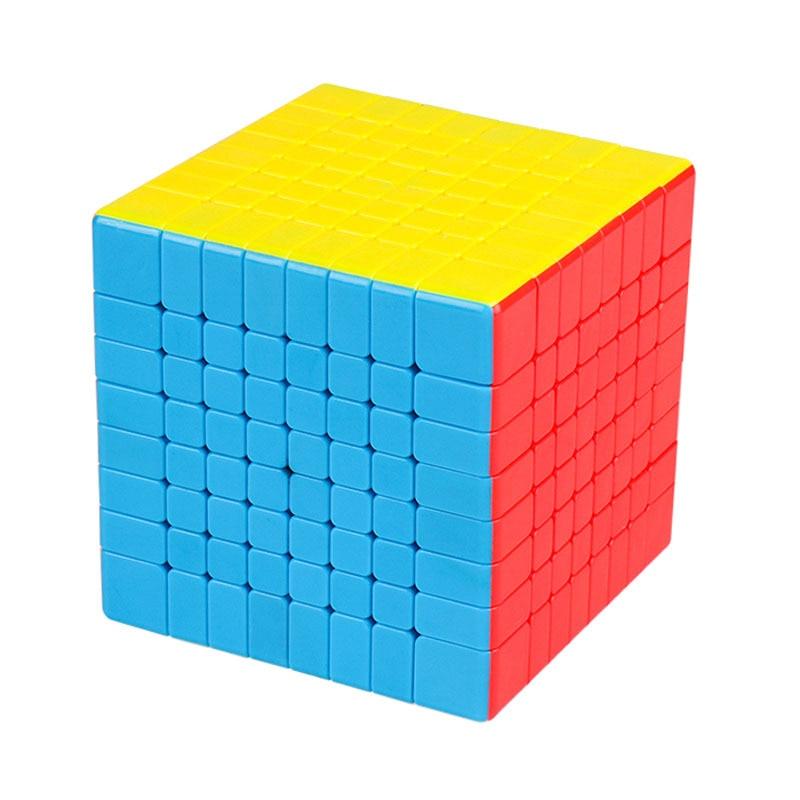 Date MoYu 6.9 CM MF8 8x8x8 cube Magique Professionnel Vitesse Twist Puzzle Neo Cube Lisse Cubo magico cube de puzzle jouets éducatifs