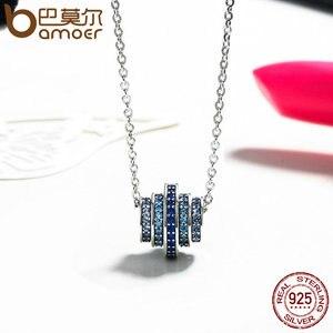 Image 5 - BAMOER otantik % 100% 925 gümüş kademeli değişim yuvarlak tekerlek mavi melodi kolye kolye kadınlar için güzel takı hediye