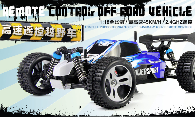Wltoys A959 RC Truck 1:18 Scale 2.4G 4WD RTR Off-Road Buggy 50KM/H High Speed Racing Car 4 wheel Climber Blue wltoys a959 rc car off road car 1 18 scale 2 4g 4wd rtr off road buggy high speed racing car remote control truck electric rtr