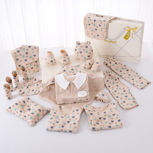 Image 3 - Cartoon noworodka ubrania zestaw prezentowy dla dziecka bawełna noworodki dziewczynka chłopiec ubrania dla niemowląt odzież ubranko dla dziecka noworodka zestaw bez pudełka