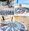 Many Patterns 2017 New Summer Large Microfiber Printed Round Beach Towels With Tassel Circle Beach Towel Serviette De Plage