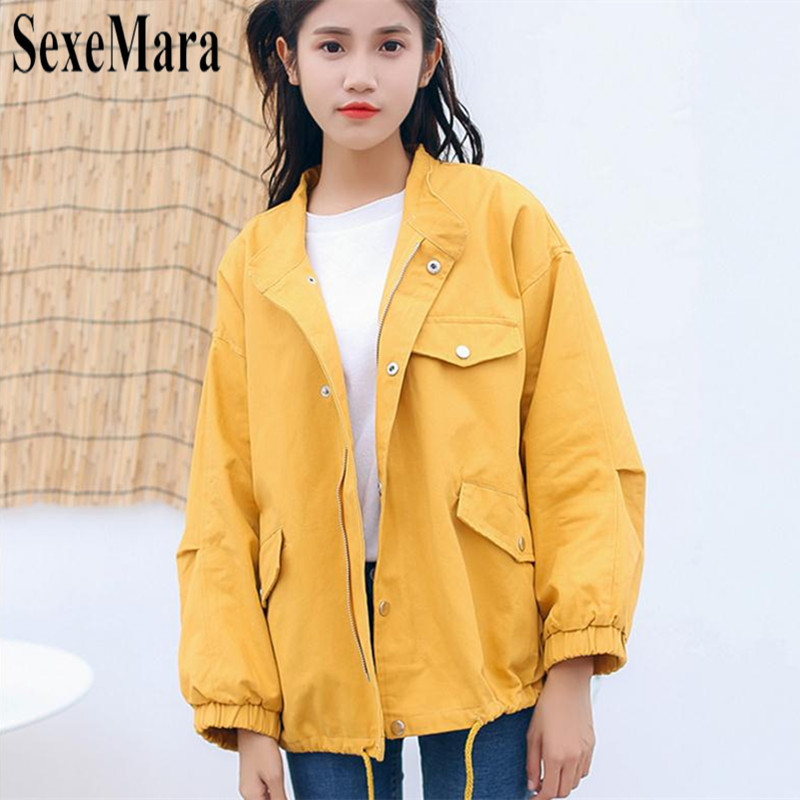 acf7e81a7dd Yellow Highstreet Office Lady Pocket Front Button Up Single Breasted Solid  Jacket 2019 Autumn Elegant Women
