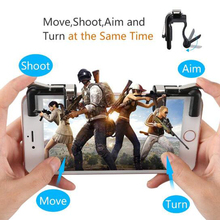 1Pair  Gaming Trigger Fire Button Aim Key Smart Phone Mobile Joysticks Game L1R1 Shooter Controller For PUBG For Critical Ops
