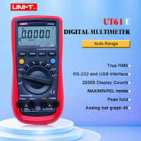 UNI-T UT61E ดิจิตอลมัลติมิเตอร์ PC เชื่อมต่อ AC DC แรงดันไฟฟ้าเมตรข้อมูล Hold Mode 22000 จอแสดงผลนับหน้าจอ LCD ความน่าเชื่อถือสูง