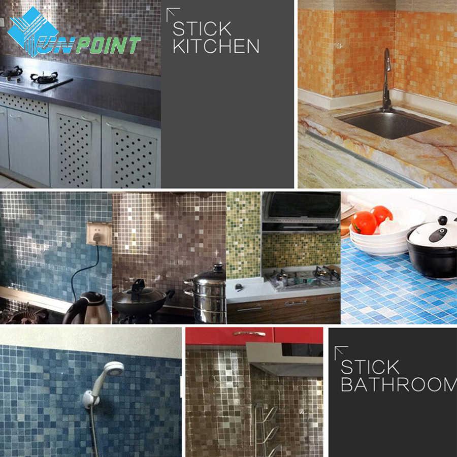 45 см X 5 м Корейская виниловая настенная наклейка «сделай сам» Ванная комната Водонепроницаемый самоклеющиеся обои кухня мозаичная плитка самоклейка наклейки домашний декор