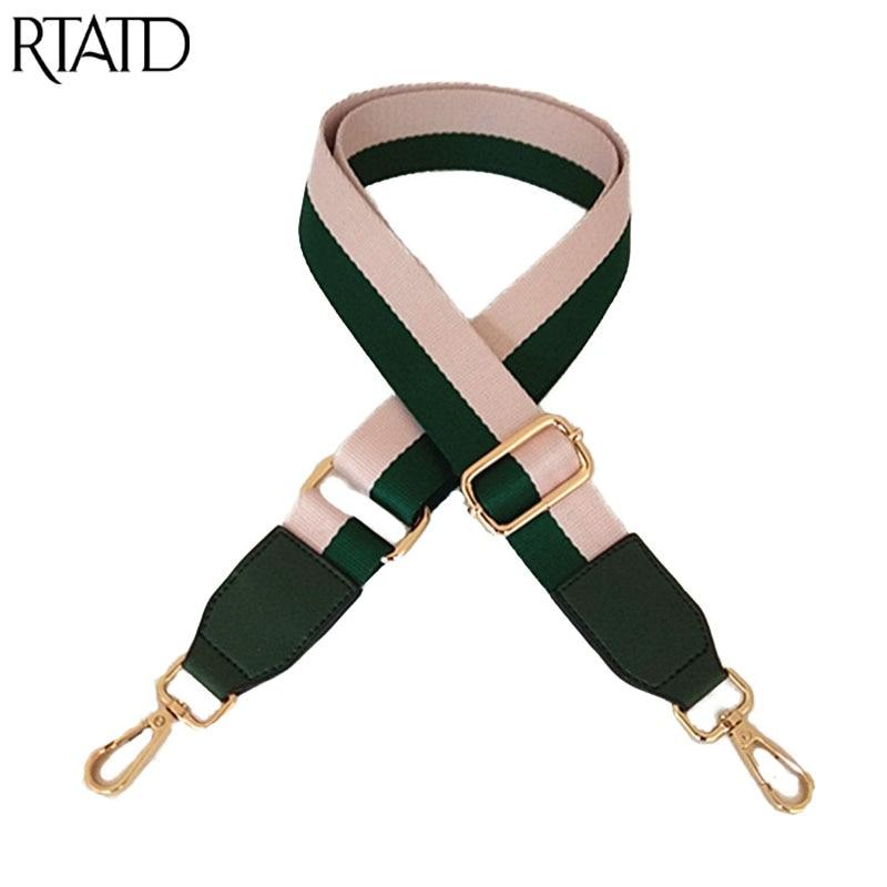 Canvas Women Bag's Strap Adjustable Shoulder Strap Replacement Handle For Lady Bags Belts Q0227