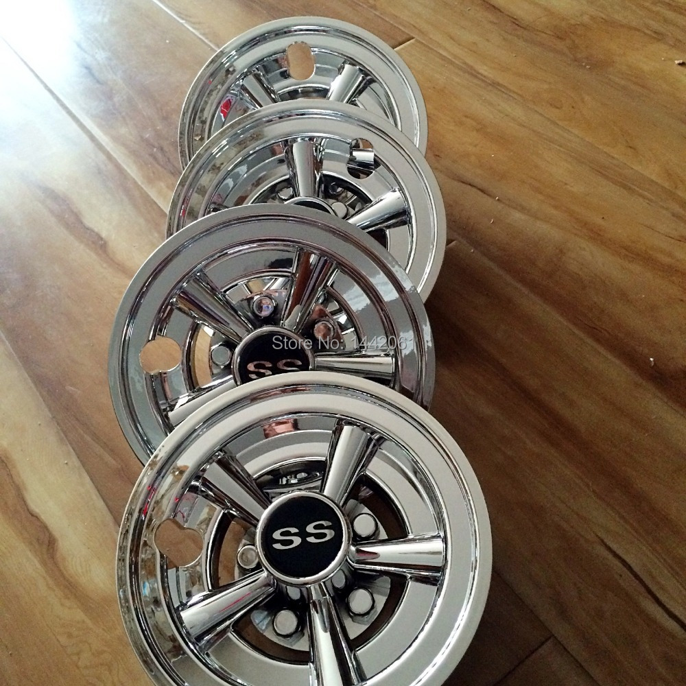 Golf cart 8 inch hub caps wheel covers ss style chrome-in Chromium Golf Cart Wheel Covers Chrome Html on golf cart covers walmart, club car golf cart wheel covers, golf cart storage covers, gray and black steering wheel covers, golf cart steering wheel covers,