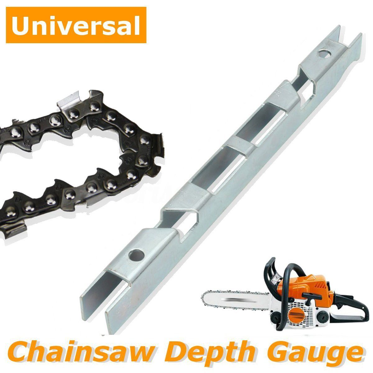 Universal Chainsaw Chain Depth Gauge File Guide Tool And Guide Bar Groove Cleaner Garden Tools