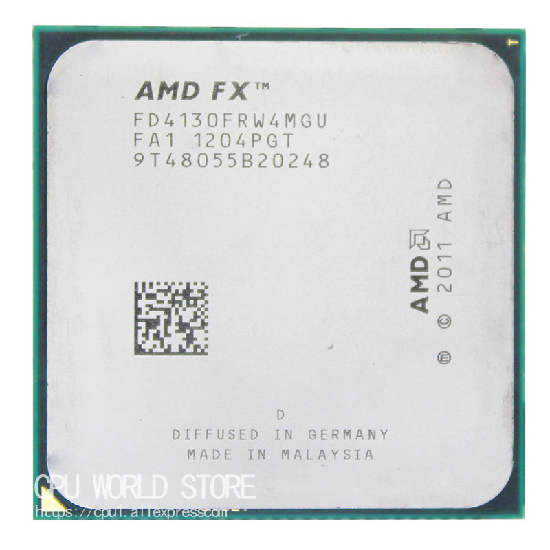 AMD FX 4130 AM3+ 3.8GHz/4MB/125W Quad Core CPU processor FX serial pieces FX-4130 sell fx 4130 4200 original 960gm vgs3 fx bulldozer am3 integrated small board support open core